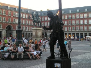 Performance art in Madrid, Spain
