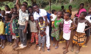 Richard with orphans in Odumasi Krobo, a village in the Eastern Region of Ghana